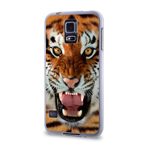 Чехол для Samsung Galaxy S5 силиконовый  Фото 03, Тигр
