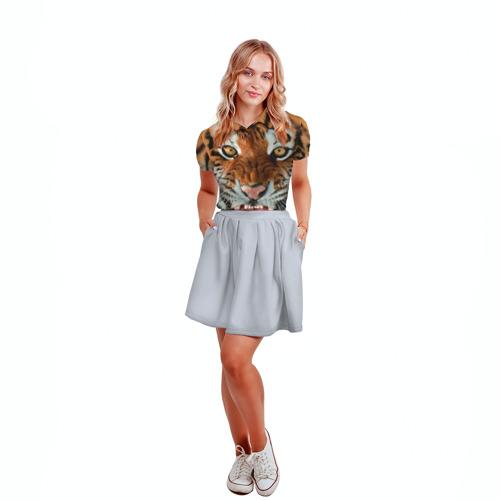 Женская рубашка поло 3D Тигр Фото 01