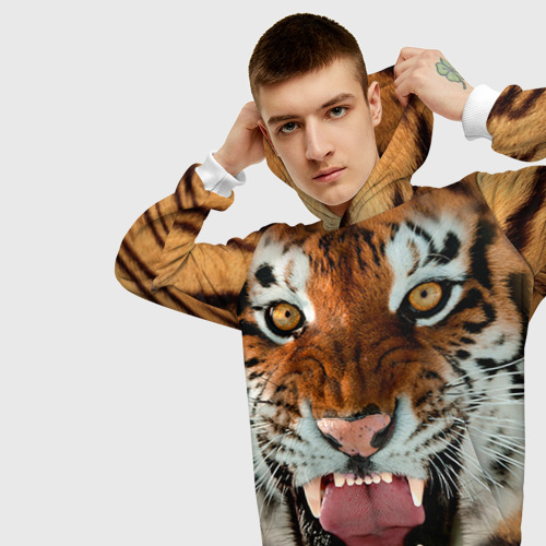 Мужская толстовка 3D Тигр