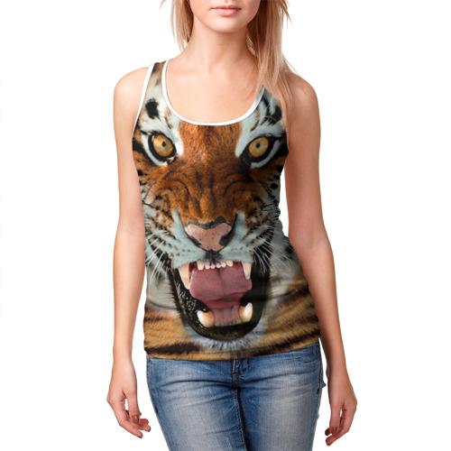 Женская майка 3D  Фото 03, Тигр