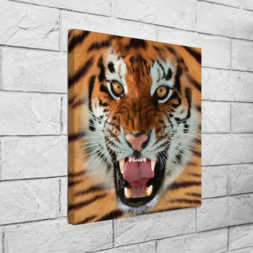 Холст квадратный  Фото 03, Тигр