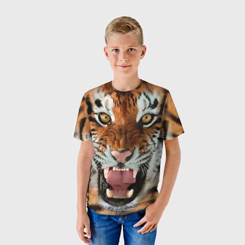 Детская футболка 3D Тигр Фото 01