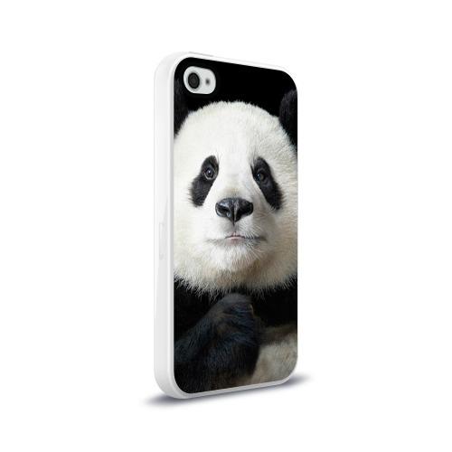 Чехол для Apple iPhone 4/4S силиконовый глянцевый Панда Фото 01