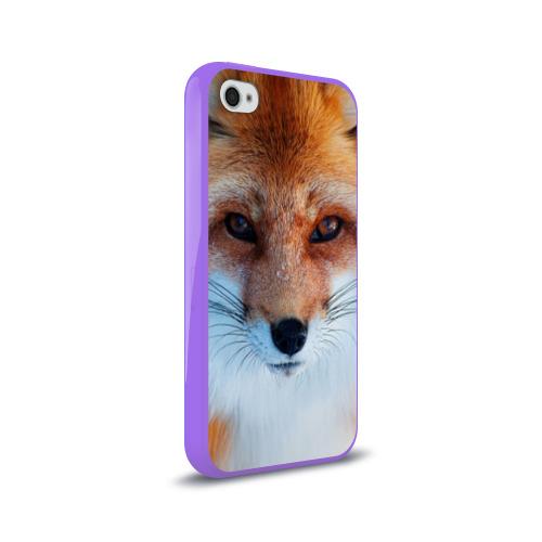 Чехол для Apple iPhone 4/4S силиконовый глянцевый  Фото 02, Лиса