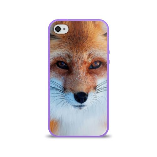 Чехол для Apple iPhone 4/4S силиконовый глянцевый  Фото 01, Лиса
