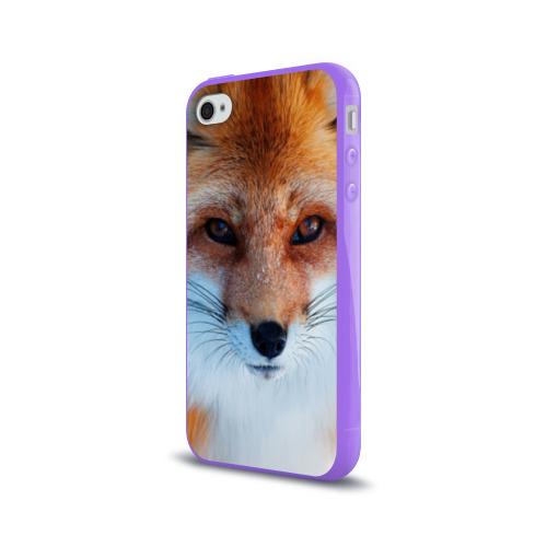 Чехол для Apple iPhone 4/4S силиконовый глянцевый  Фото 03, Лиса