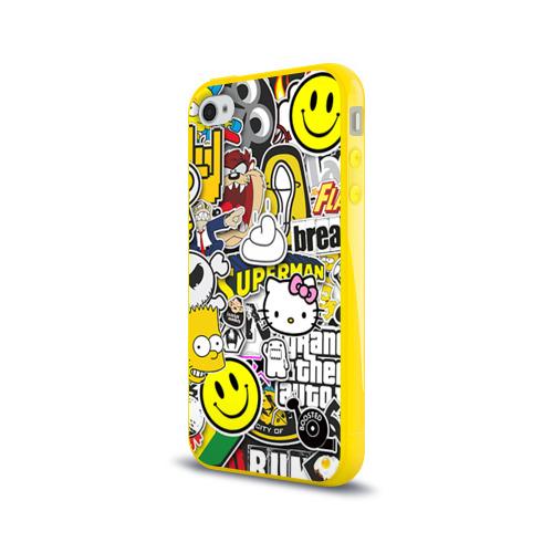 Чехол для Apple iPhone 4/4S силиконовый глянцевый  Фото 03, стикербомбинг