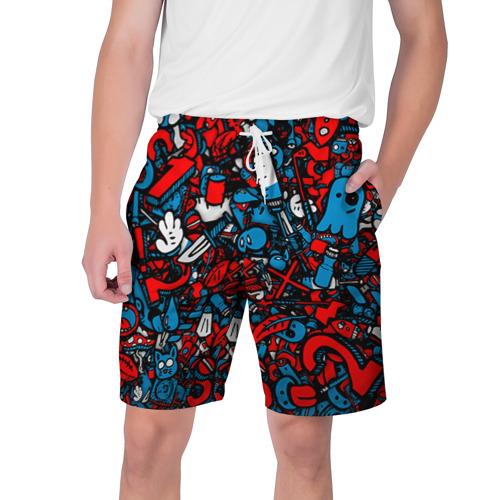 Мужские шорты 3D стикербомбинг