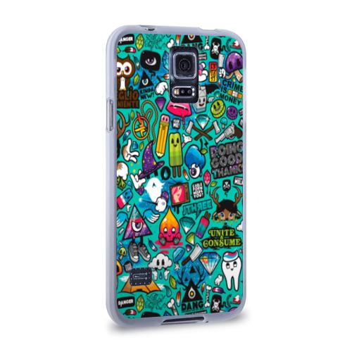 Чехол для Samsung Galaxy S5 силиконовый  Фото 02, стикербомбинг