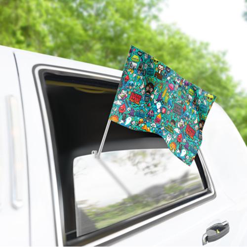 Флаг для автомобиля стикербомбинг Фото 01