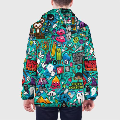 Мужская куртка 3D стикербомбинг Фото 01