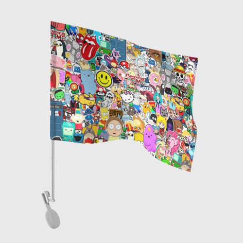Флаг для автомобиля стикербомбинг