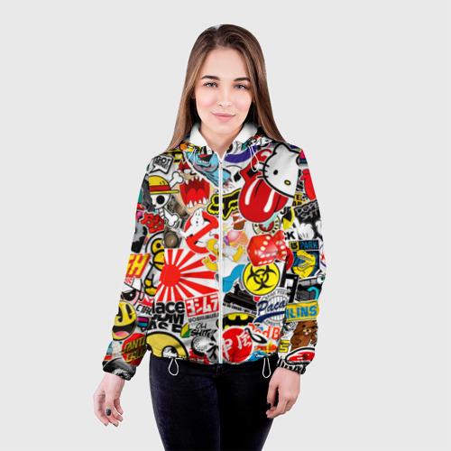 Женская куртка 3D  Фото 03, стикербомбинг
