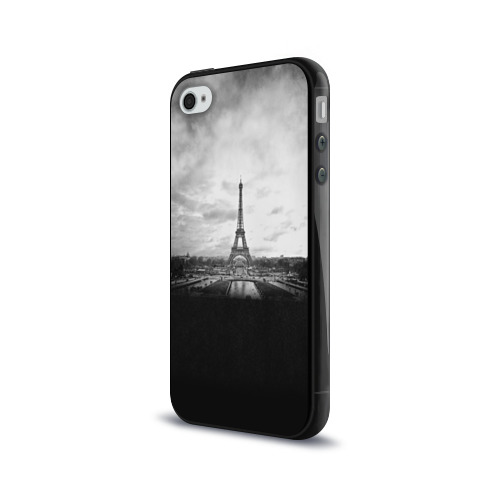 Чехол для Apple iPhone 4/4S силиконовый глянцевый  Фото 03, Париж