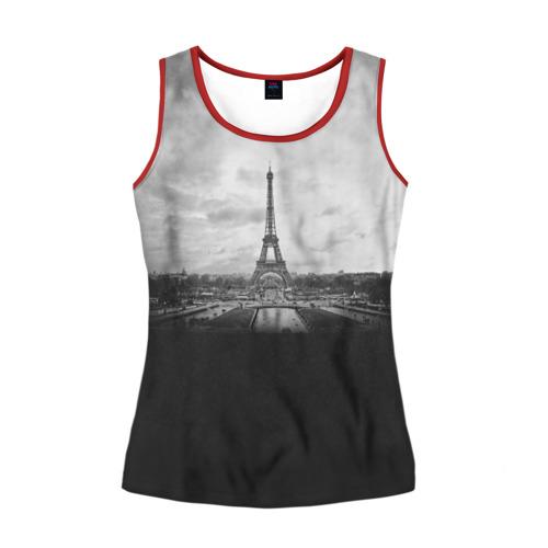 Женская майка 3D Париж