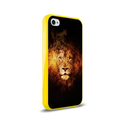 Чехол для Apple iPhone 4/4S силиконовый глянцевый  Фото 02, Лев