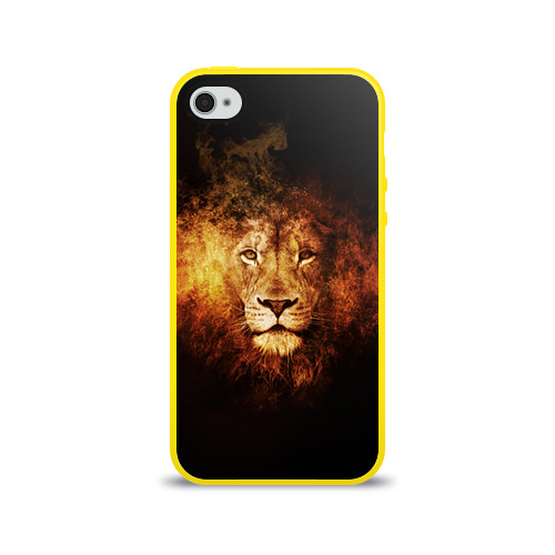 Чехол для Apple iPhone 4/4S силиконовый глянцевый  Фото 01, Лев