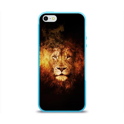 Чехол для Apple iPhone 5/5S силиконовый глянцевый  Фото 01, Лев