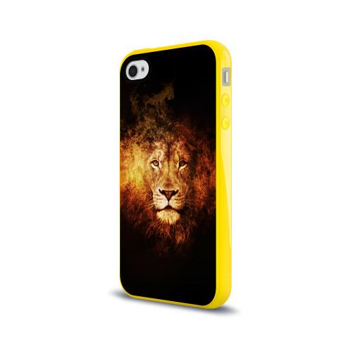 Чехол для Apple iPhone 4/4S силиконовый глянцевый  Фото 03, Лев