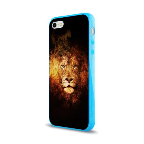 Чехол для Apple iPhone 5/5S силиконовый глянцевый  Фото 03, Лев