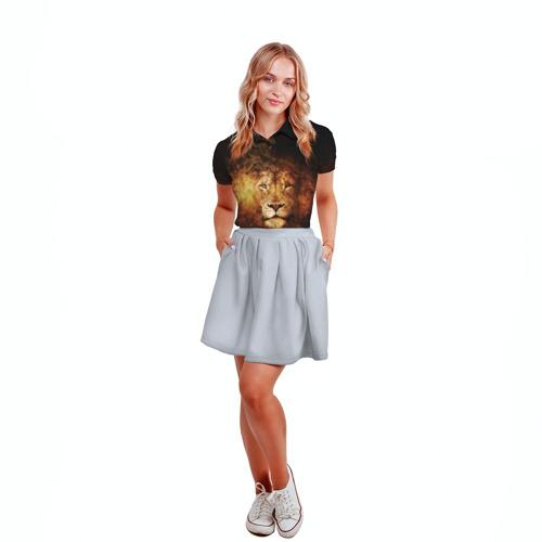 Женская рубашка поло 3D Лев Фото 01