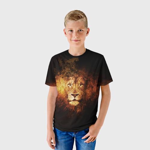 Детская футболка 3D Лев
