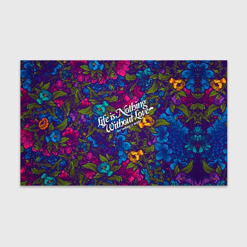 Бумага для упаковки 3D  Фото 01, Flowers pattern