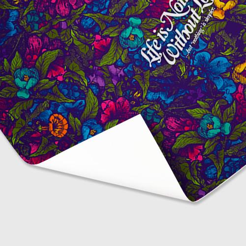 Бумага для упаковки 3D  Фото 03, Flowers pattern