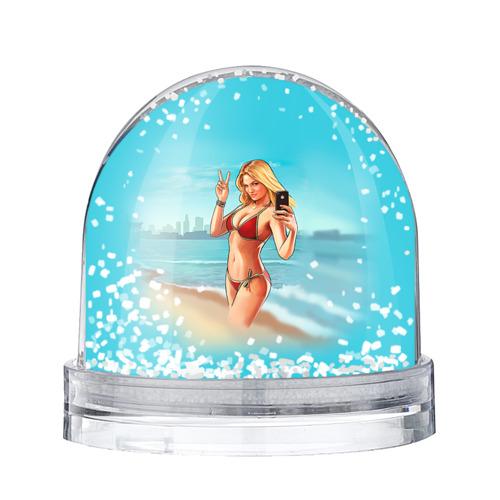 Водяной шар со снегом  Фото 01, Девушка GTA