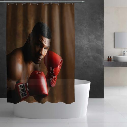 Штора 3D для ванной  Фото 02, Майк Тайсон