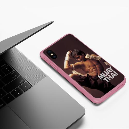 Чехол для iPhone XS Max матовый Муай тай Фото 01
