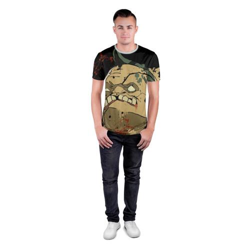 Мужская футболка 3D спортивная Pudge Фото 01