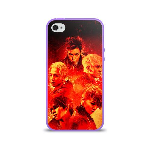 Чехол для Apple iPhone 4/4S силиконовый глянцевый  Фото 01, Big bang