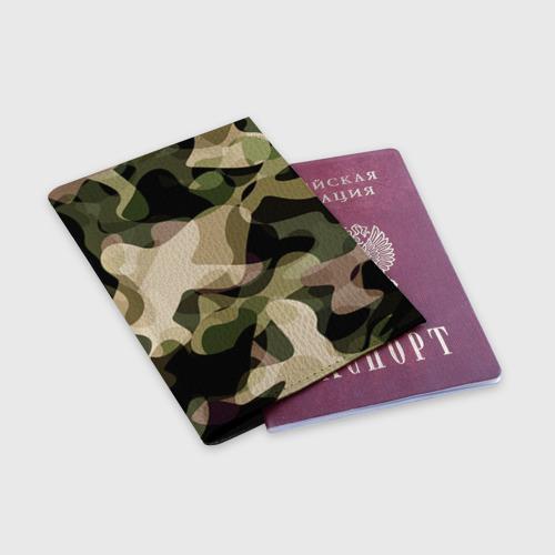 Обложка для паспорта матовая кожа  Фото 03, Камуфляж