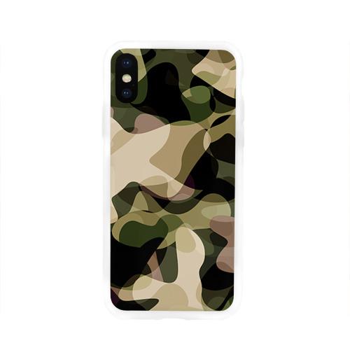 Чехол для Apple iPhone X силиконовый глянцевый  Фото 01, Камуфляж