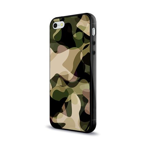Чехол для Apple iPhone 5/5S силиконовый глянцевый Камуфляж Фото 01