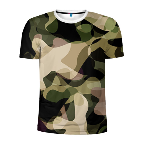 Мужская футболка 3D спортивная  Фото 01, Камуфляж