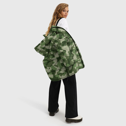 Женская зимняя куртка 3D Хаки Фото 01