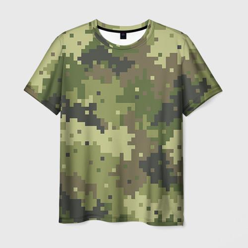 Мужская футболка 3D Хаки Фото 01