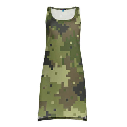 Платье-майка 3D Хаки