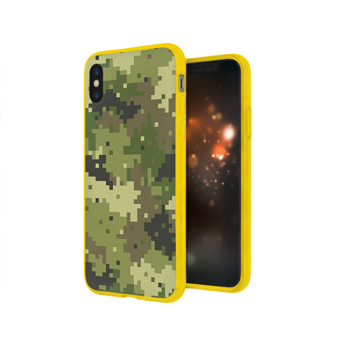 Чехол для Apple iPhone X силиконовый глянцевый Хаки