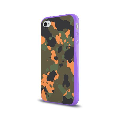Чехол для Apple iPhone 4/4S силиконовый глянцевый  Фото 03, Камуфляж