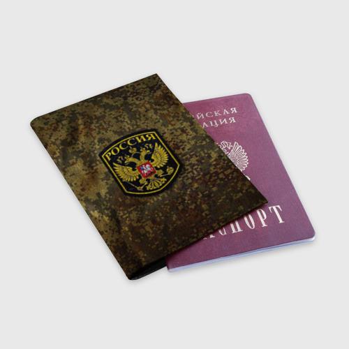 Обложка для паспорта матовая кожа  Фото 03, Хаки
