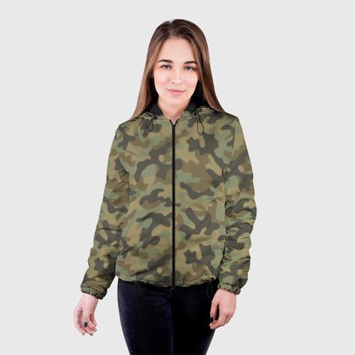 Женская куртка 3D Хаки Фото 01
