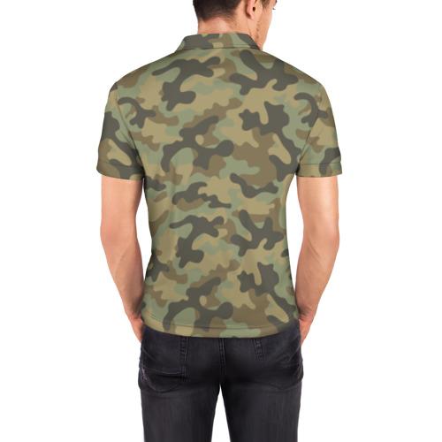 Мужская рубашка поло 3D Хаки Фото 01