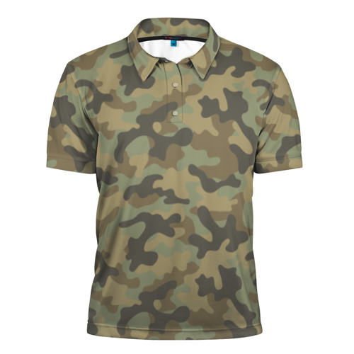Мужская рубашка поло 3D Хаки