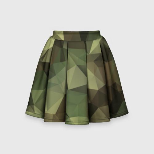 Детская юбка-солнце 3D Камуфляж