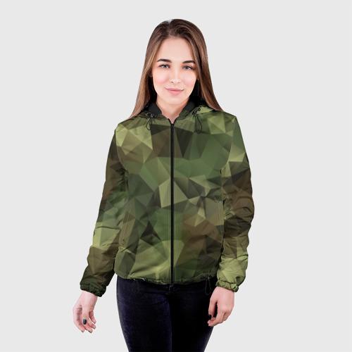 Женская куртка 3D Камуфляж Фото 01