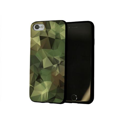 Чехол для Apple iPhone 8 силиконовый глянцевый Камуфляж Фото 01