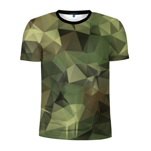 Мужская футболка 3D спортивная Камуфляж